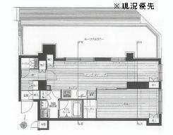 荻窪駅から徒歩8分の1LDK賃貸マンションの間取り