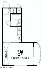 荻窪駅から徒歩9分の1K賃貸マンション(礼金なし)その2の間取り