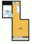 荻窪駅から徒歩7分、マンションなのに家賃が安い1Rマンション(礼金なし)の間取り